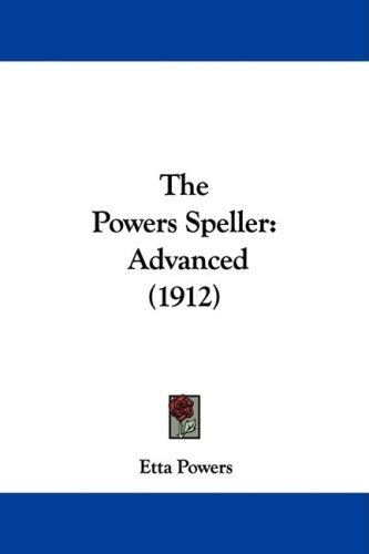 Image for The Powers Speller: Advanced
