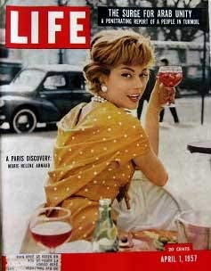 Image for Life Magazine April 1, 1957 -- Cover: A Paris Discover: Marie-Helene Arnaud