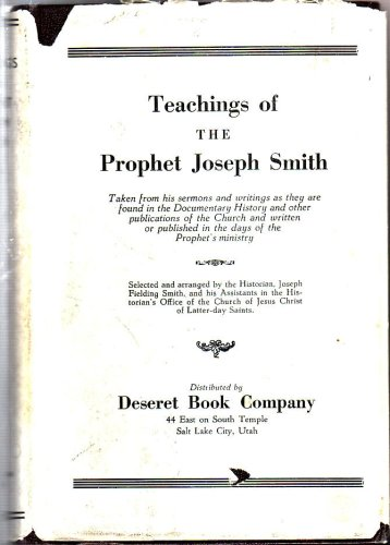 Image for Teachings of the Prophet Joseph Smith