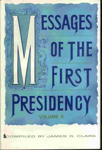 Image for Messages of the First Presidency:  Volume 1