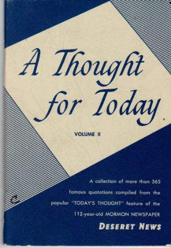 Image for A Thought for Today - Volume II