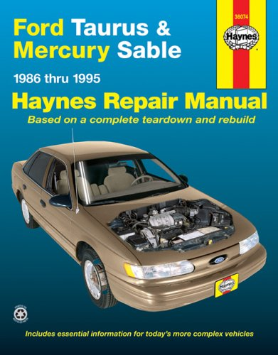 Image for Ford Taurus & Mercury Sable, 1986 thru 1995 (Haynes Automotive Repair Manual)