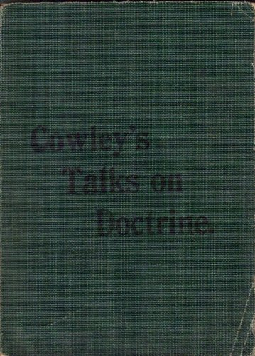 Image for Cowleys Talks on Doctrine - Softbound Green Pocket Edition