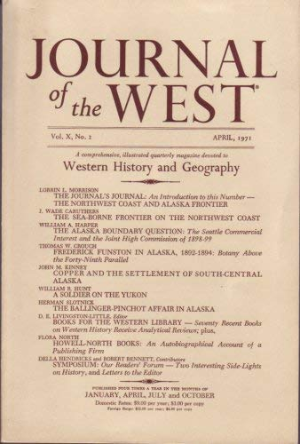 Image for Journal of the West Vol. X (Journal of the West Vol. X No. 2 April 1971)
